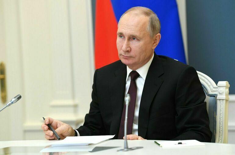 Путин проголосовал на выборах онлайн