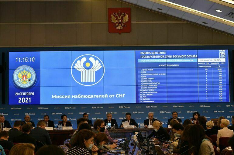 Наблюдатели от СНГ положительно оценили нововведения на выборах в России