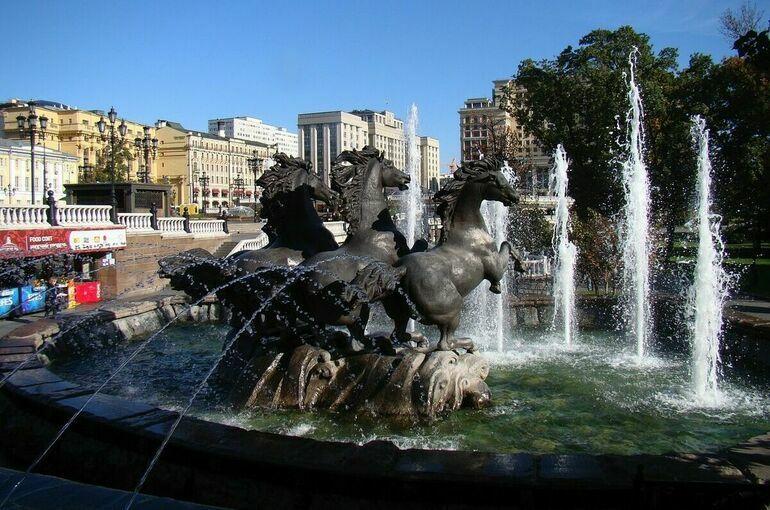 Сезон фонтанов завершится в Москве 1 октября