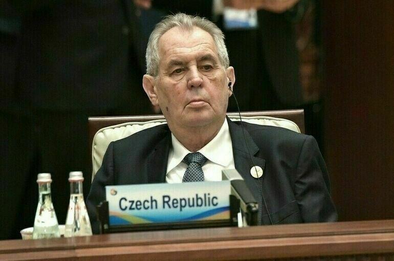 Президента Чехии госпитализировали в военный госпиталь