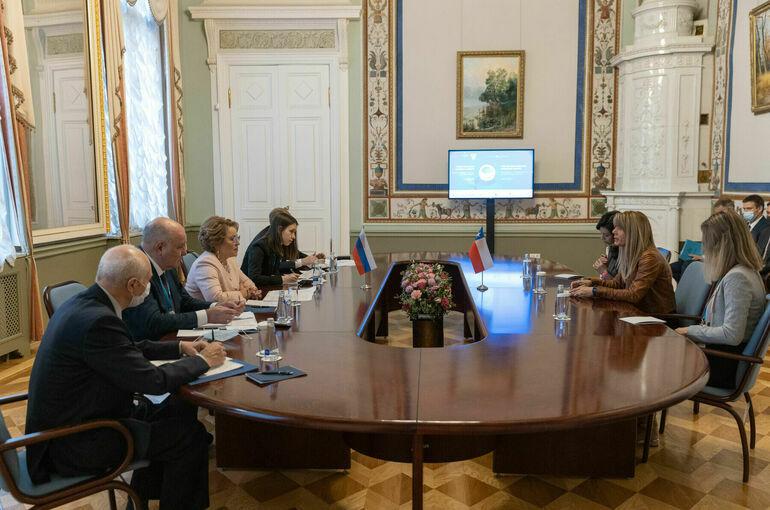 Матвиенко: сенаторы заинтересованы в расширении сотрудничества с чилийскими парламентариями