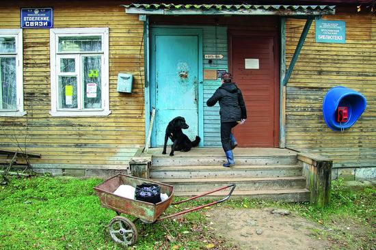 сельская библиотека в Ленинградской области