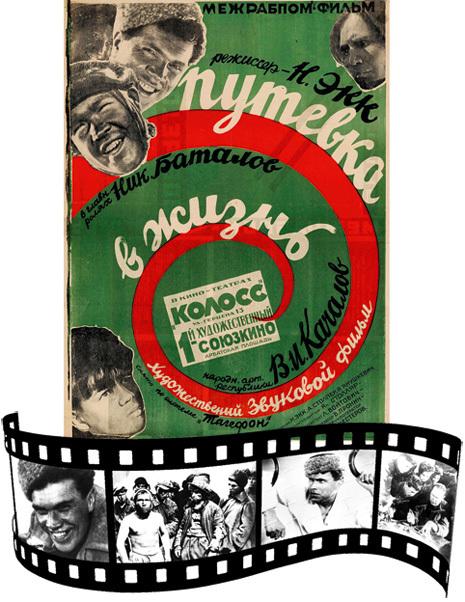 В 1931 г. вышел на экраны первый советский звуковой фильм «Путевка в жизнь»