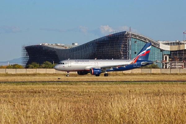 Новый аэровокзальный комплекс «Крымская волна». Фото: пресс-служба Международного аэропорта «Симферополь».