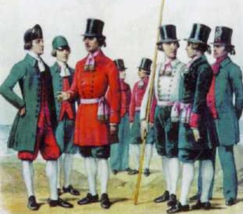 Придворная гребецкая команда. 1763-1765 гг.