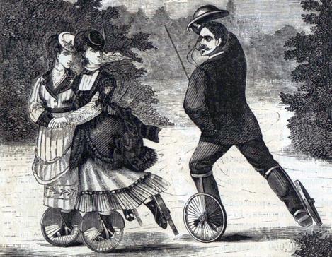 Роликовые коньки 1870 год